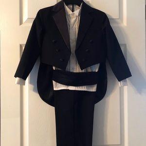 Other - Black Tuxedo Style Suit Boys 7